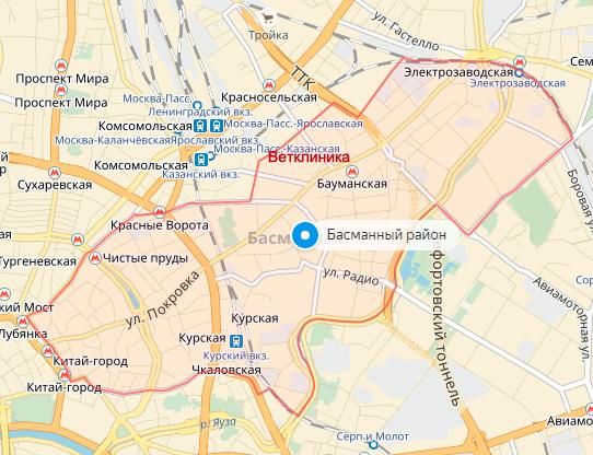 Ветеринарная клиника Бауманская, Басманный район